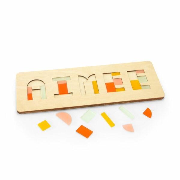 Kinderpuzzel in kleurcombinatie Lente met losse stukjes