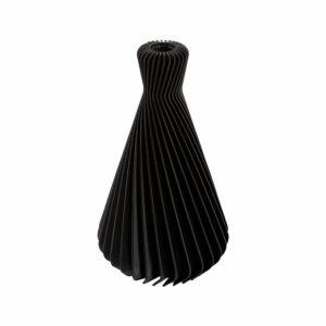 Duurzame 3D-geprinte vaas gemaakt van hernieuwbare plantaardige grondstoffen. Bioplastic.