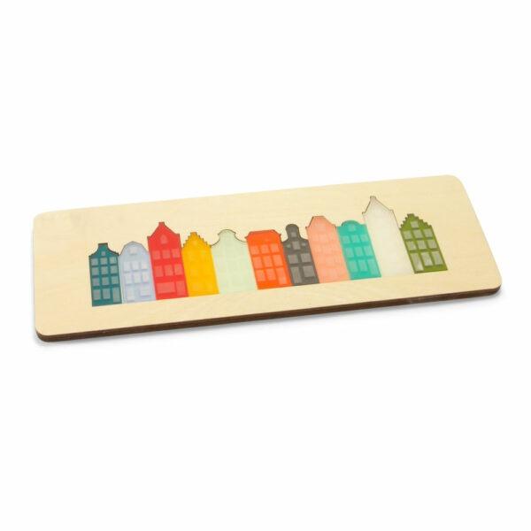 grachtenpuzzel puzzel met amsterdamse grachtenhuizen