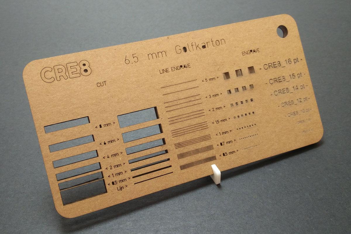 lasersnijden van 6,5 mm bruin golfkarton