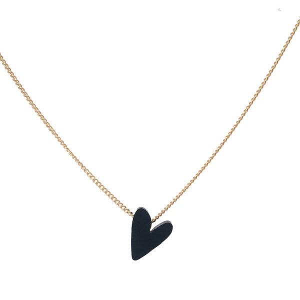 #lovedbyme necklace mat-zwart