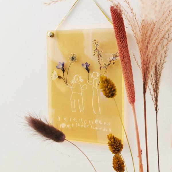 Bloemenframe voor droogbloemen